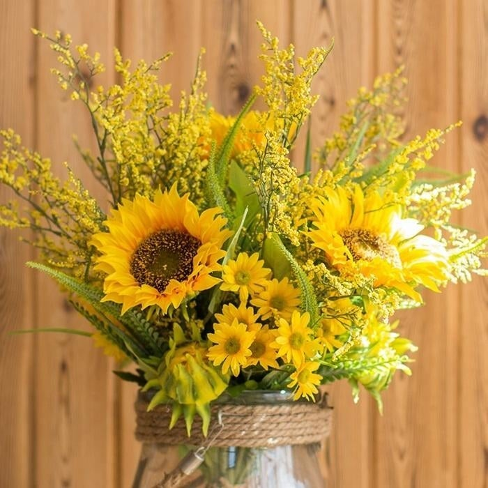 Shop rusticreach artificial flower bouquet artificial yellow shop rusticreach artificial flower bouquet artificial yellow sunflower bouquet 21 tall free shipping today overstock 24074058 mightylinksfo
