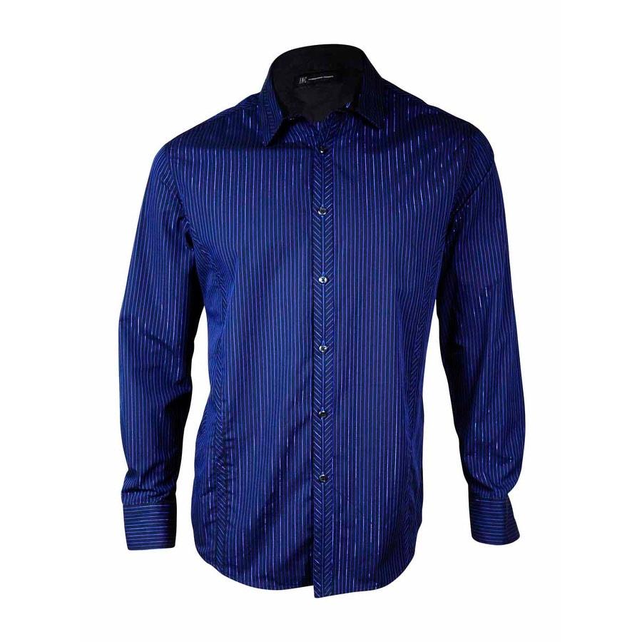 Shop Inc International Concepts Mens Metallic Pinstriped Dress
