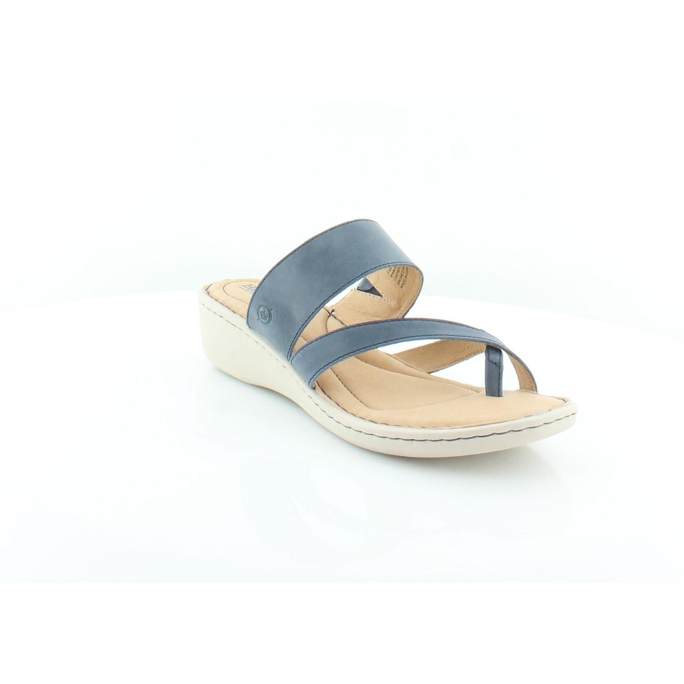13a0e11e90a0 Shop Born Siene Women s Sandals Navy - Free Shipping Today ...