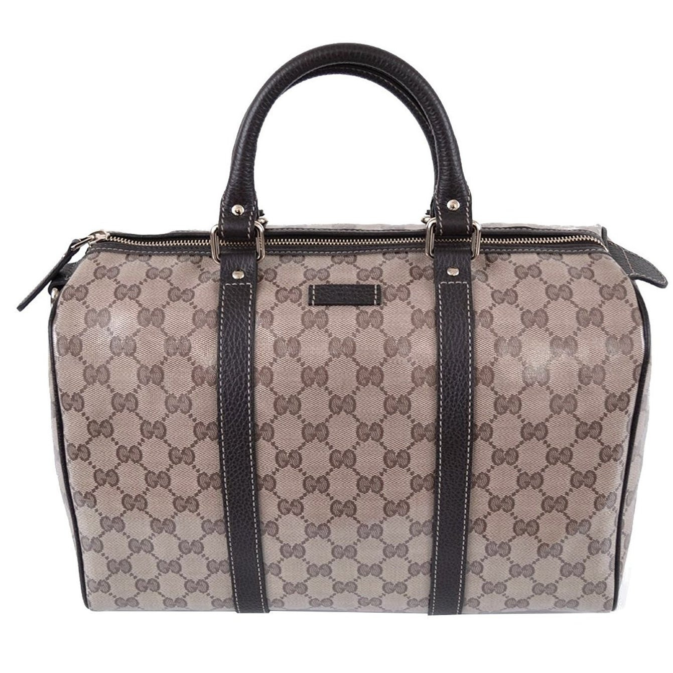 fd152d1e4d77 Shop Gucci Brown Crystal GG Canvas & Leather Boston Bag - Free Shipping  Today - Overstock - 15300590