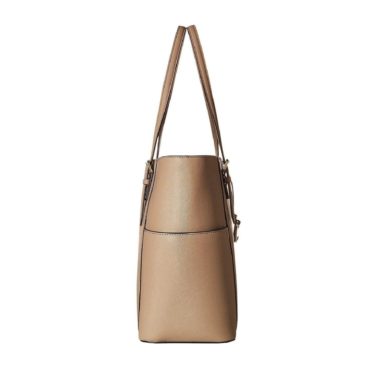 22d9b5588c04 Shop MICHAEL Michael Kors Jet Set Travel Large Leather Tote Truffle/Gold -  One Size - Free Shipping Today - Overstock - 25744618