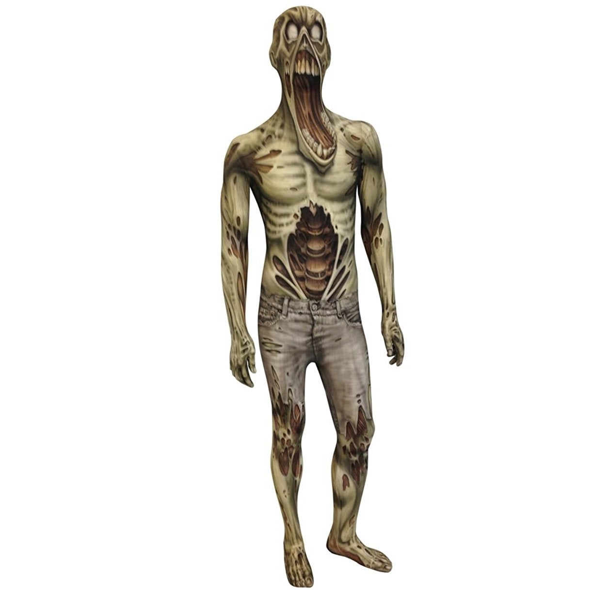 Shop Zombie Morphsuit Costume Adult - Grey - Free Shipping Today ...