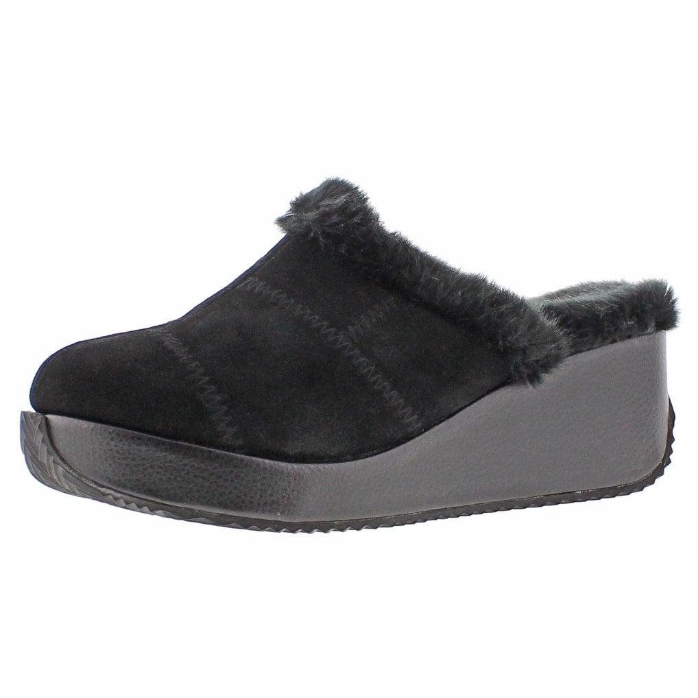 9b89a822d21 Shop Volatile Impressive Women s Faux Fur Wedge Mule Clogs - Free ...