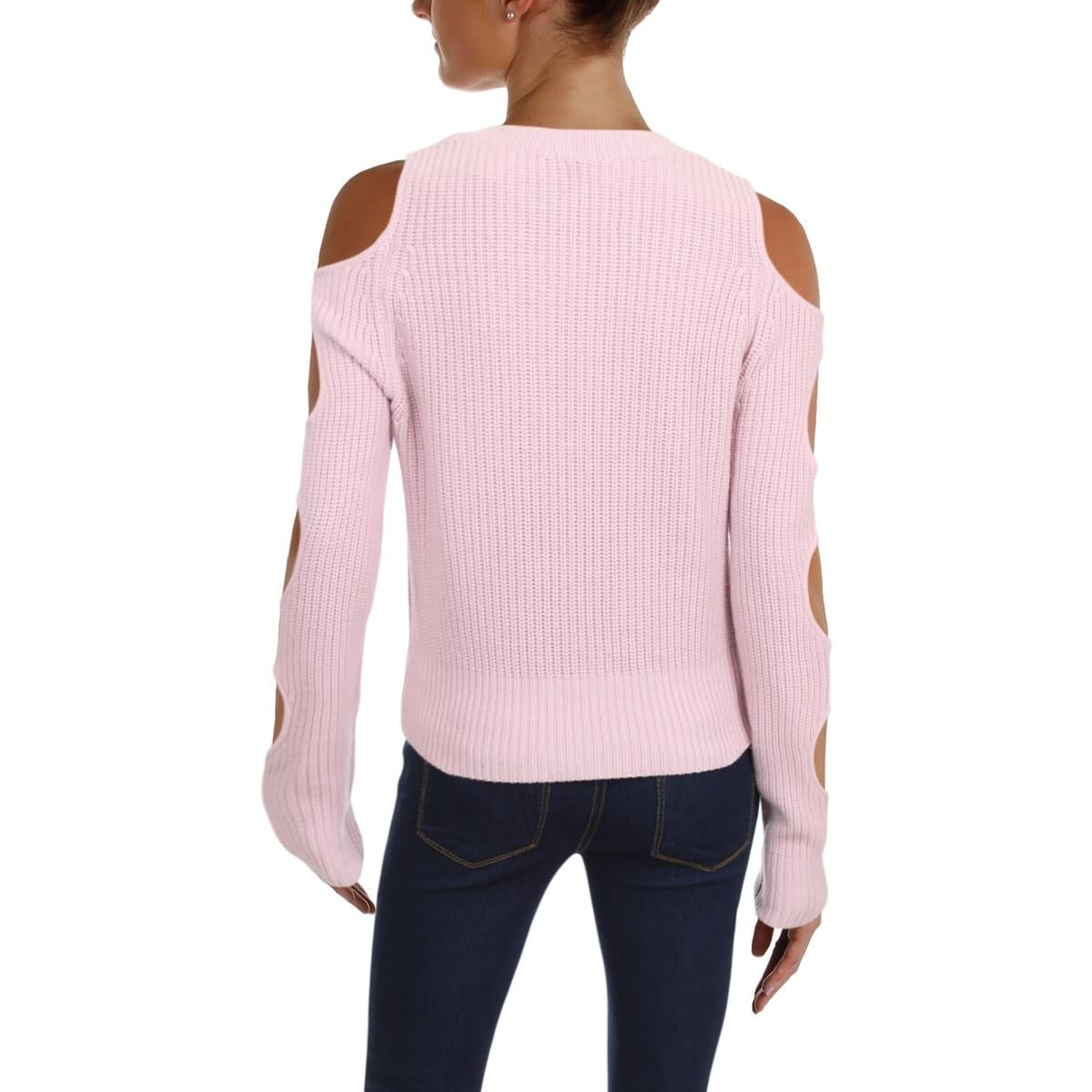 f13e67be9fb Shop Zoe Jordan Womens Galen Pullover Sweater Cold Shoulder Cut-Out Sleeves  - Free Shipping Today - Overstock - 23482893