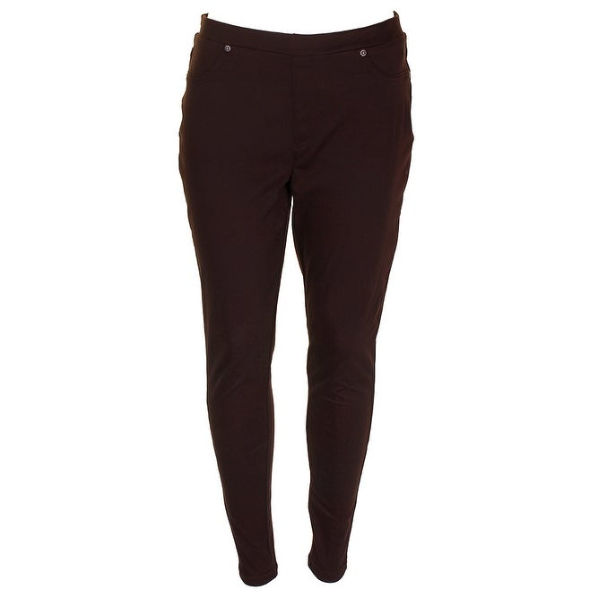0ff227db88a39 Style & Co Rich Truffle Twill Mid Rise Comfort Waist Pull-On Leggings M