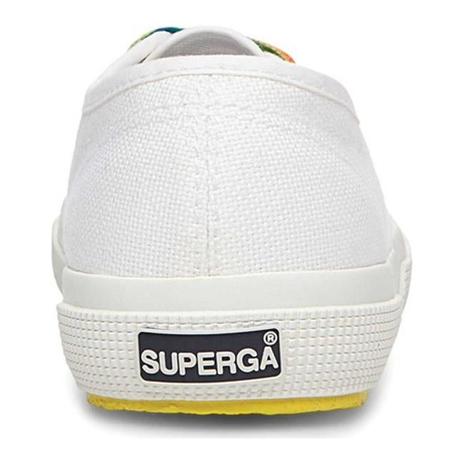 5eb9acbc5f0 Shop Superga Women s 2750 Cotw Multicolors Outsole Sneaker White  Multicolored Canvas - Free Shipping Today - Overstock - 19880178