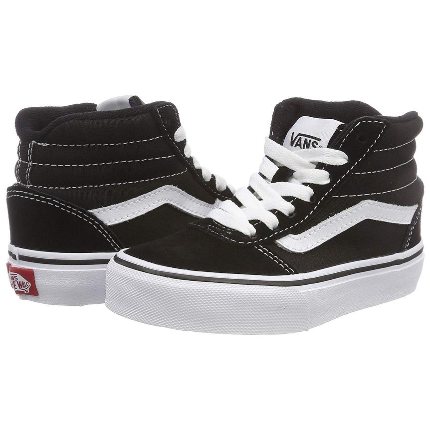 232e54578c Shop Vans Ward Hi Round Toe Canvas Skate Shoe