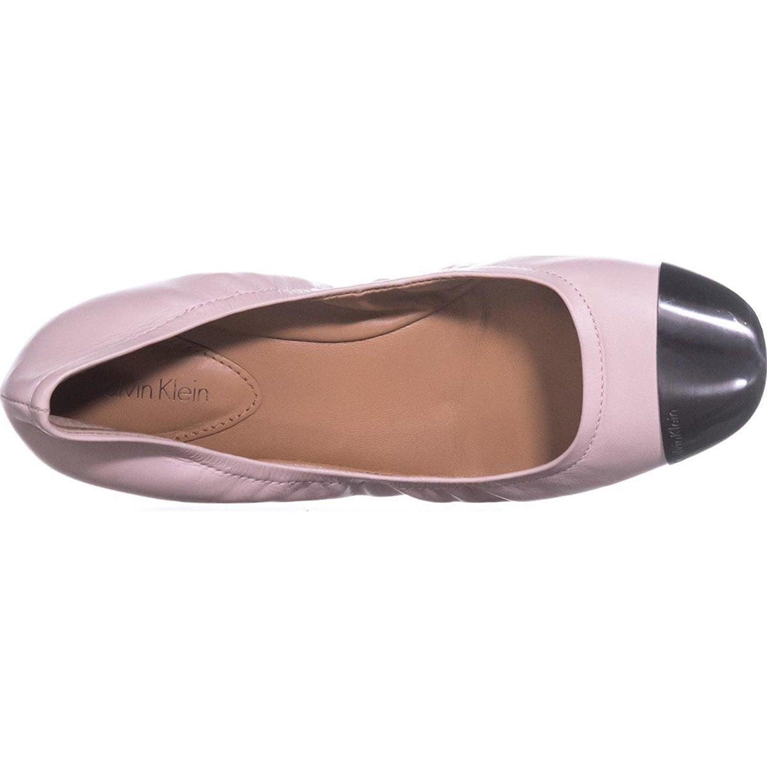 d0d9fb297a8a Shop Calvin Klein Womens Fiana Leather Cap Toe Ballet Flats - Free Shipping  On Orders Over  45 - Overstock - 19808064