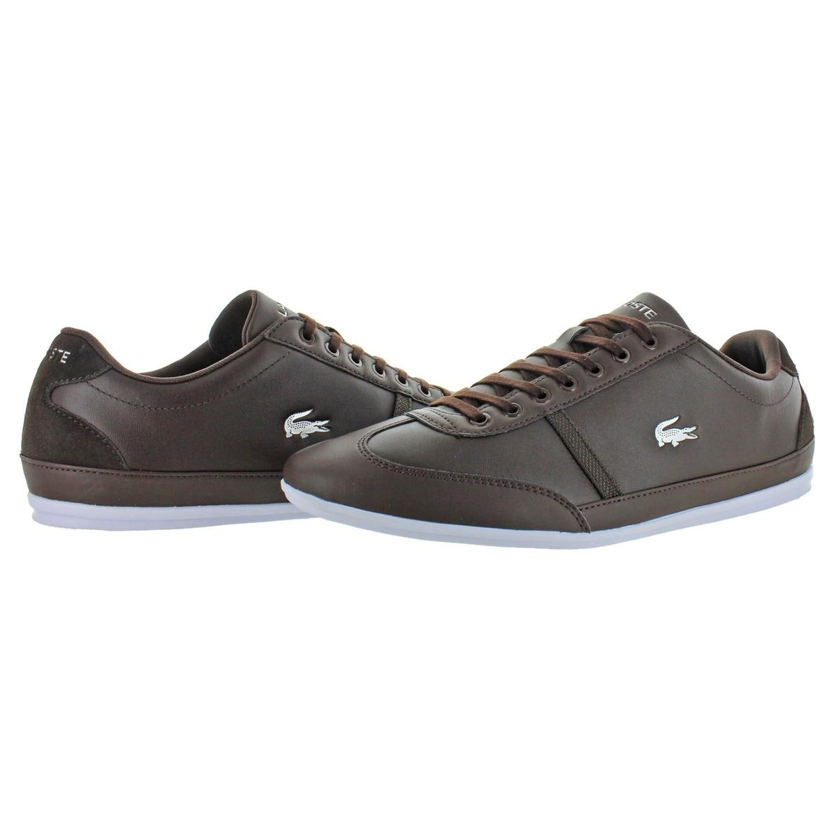 45fe6767a Shop Lacoste Mens Misano Sport 118 1 Casual Shoes Leather Ortholite ...