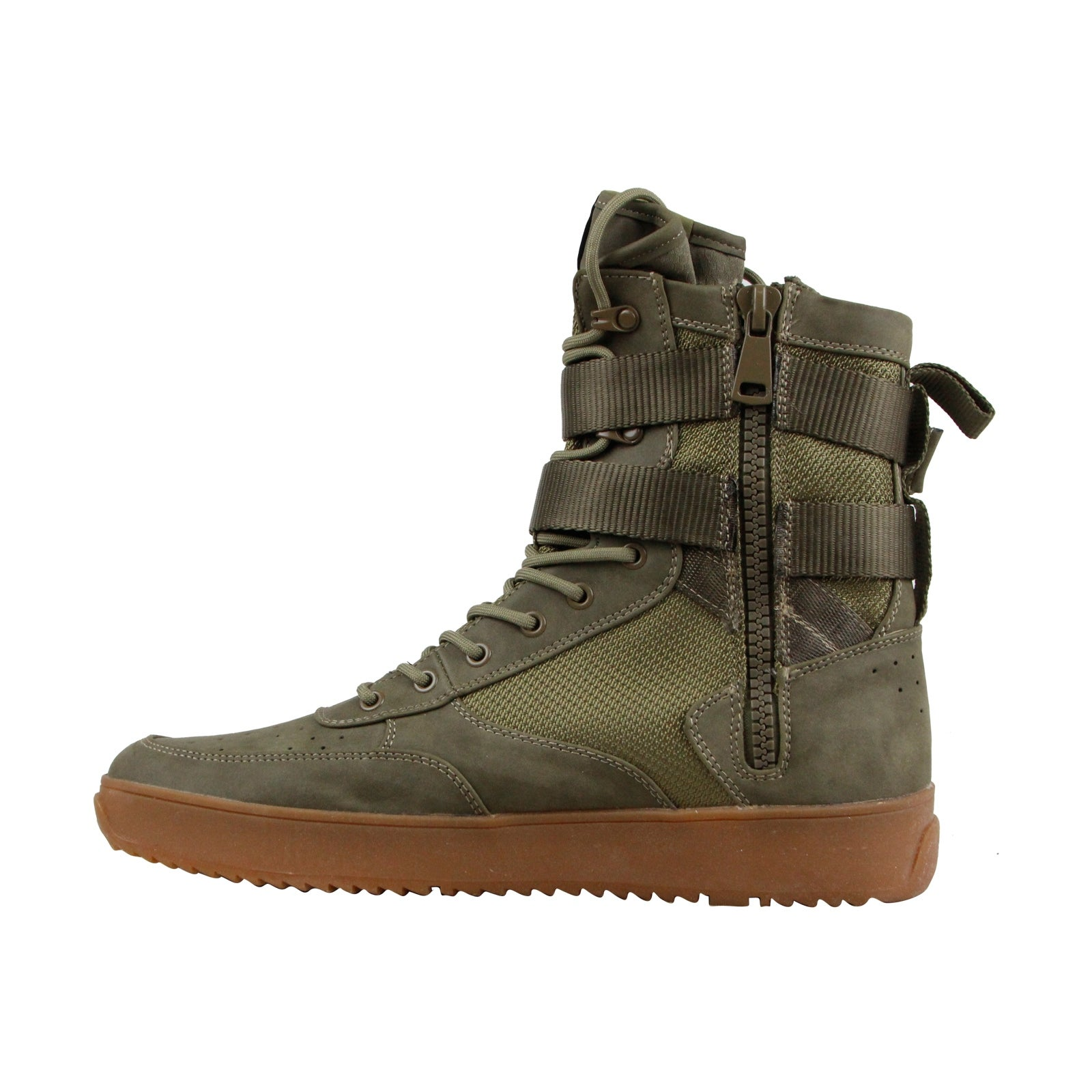 243c2a75290 Shop Steve Madden Zeroday Mens Green Leather High Top Lace Up Sneakers  Shoes - Free Shipping Today - Overstock - 22130514