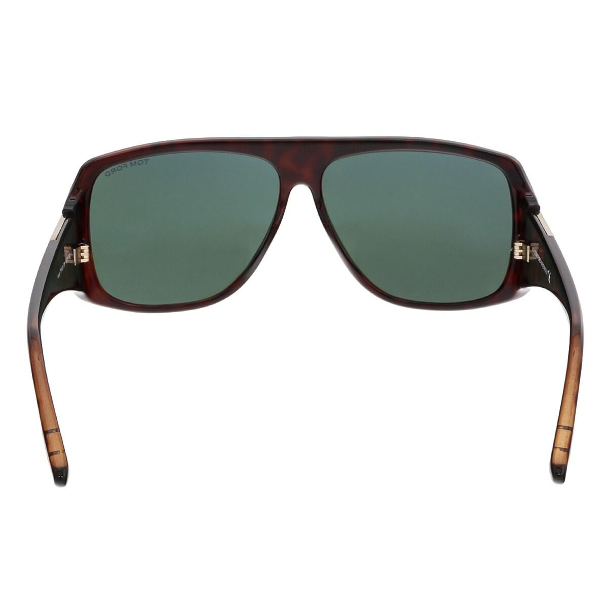 3ecb83db7e4ac Shop Tom Ford FT0433 52N HARLEY Dark Havana Rectangular Sunglasses -  60-11-140 - Ships To Canada - Overstock - 15371937