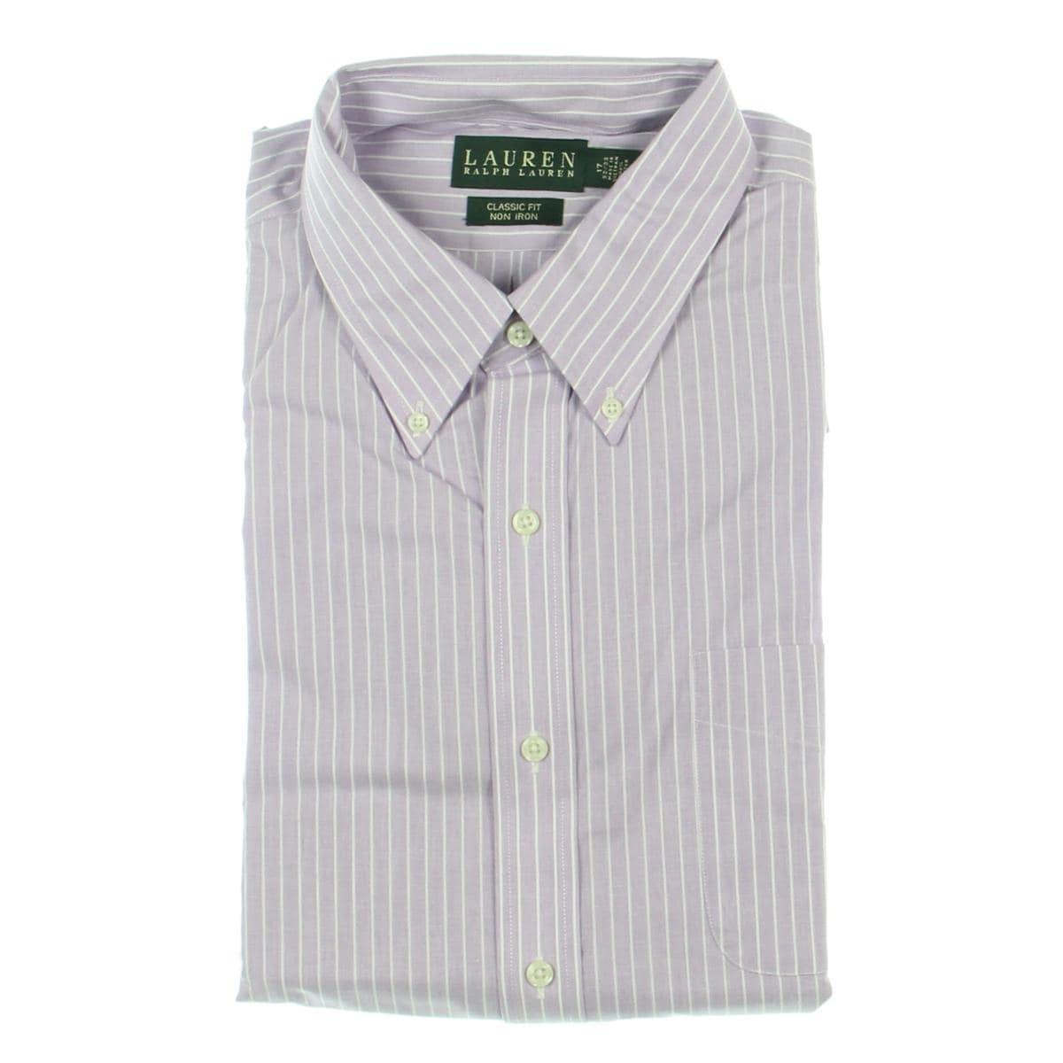 Lauren Ralph Lauren Mens Dress Shirt Striped Long Sleeves