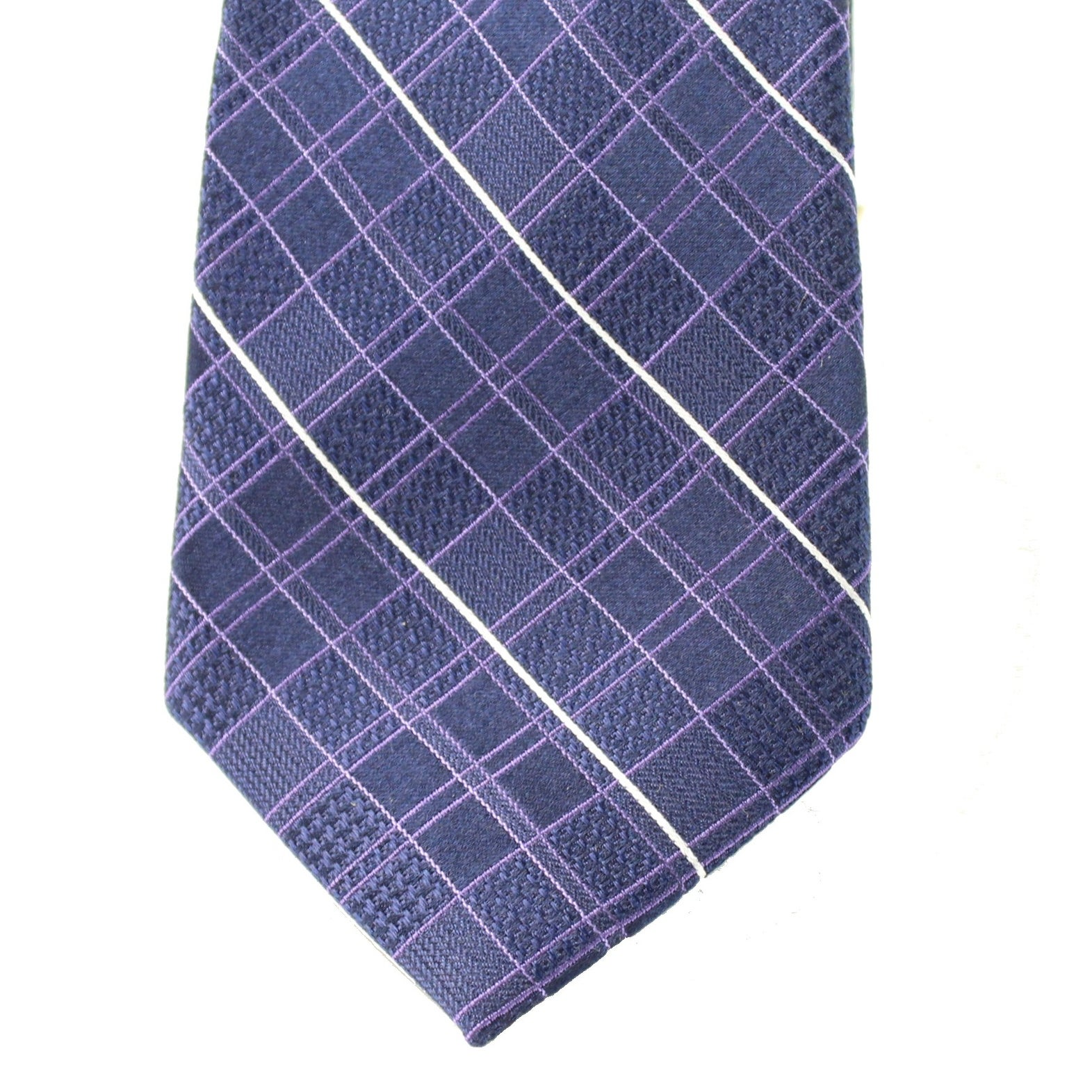 8c3ad282df90 Shop Michael Kors NEW Navy Blue Men's Classic Plaid Print Silk Neck Tie -  Free Shipping On Orders Over $45 - Overstock - 19435406
