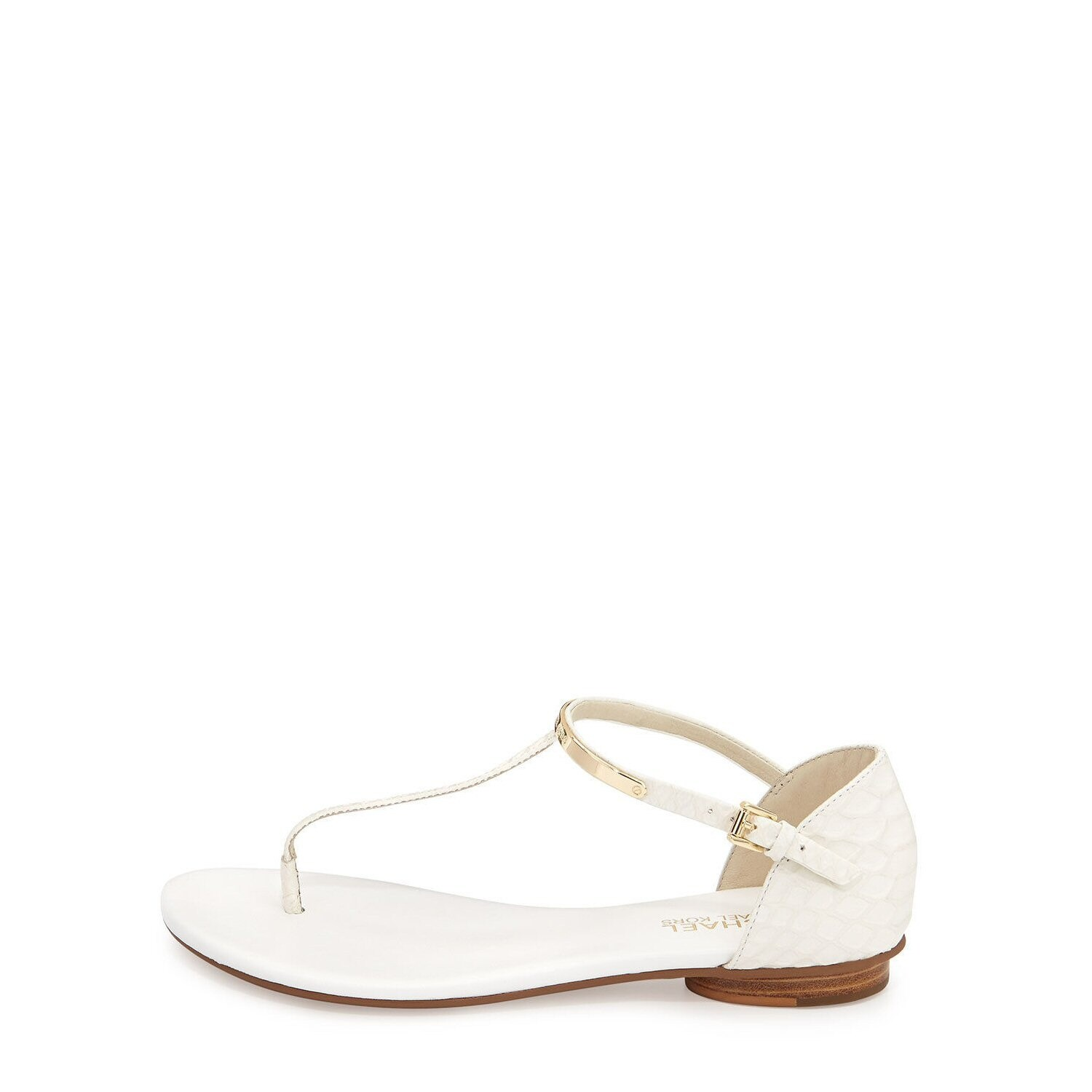 3a78f2a8983 Shop Michael Michael Kors Kristen Embossed Leather Flat Thong Sandals - 6.5  b(m) - Free Shipping Today - Overstock - 14407568