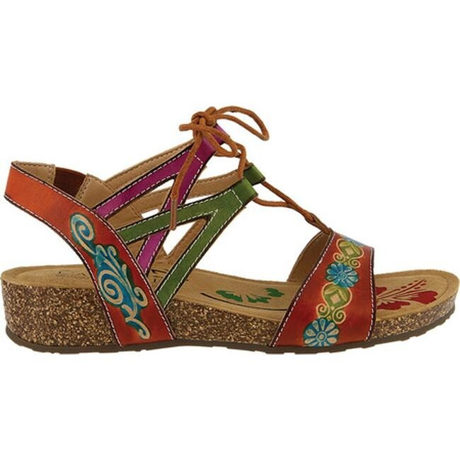 1b27a6a91541 Shop L Artiste by Spring Step Women s Loma Wedge Sandal Camel Leather -  Free Shipping Today - Overstock.com - 19530324