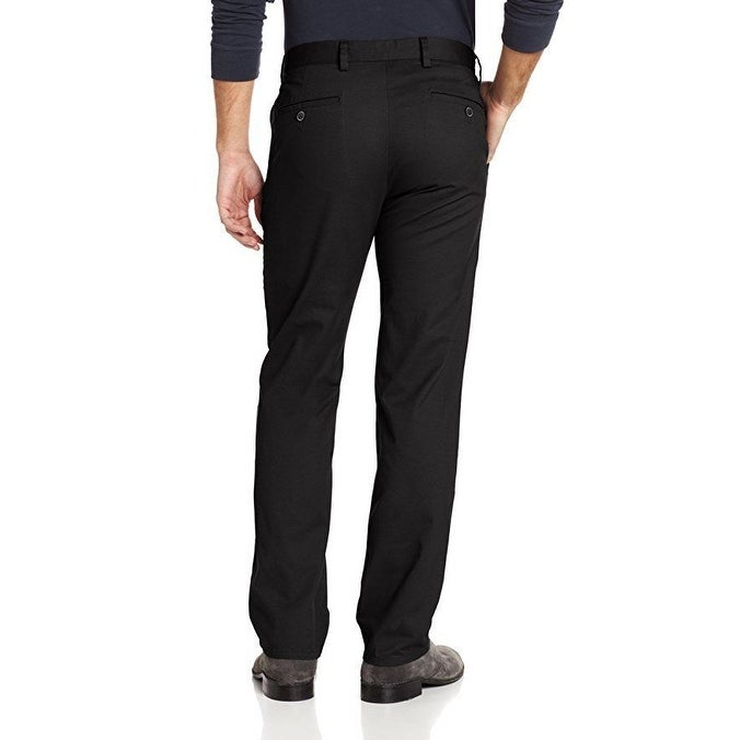 926a65e3 Shop Dockers Men's Easy Khaki D1 Slim-Fit Flat-Front Pant, Black, 33W x 32L  - Free Shipping Today - Overstock - 27068287