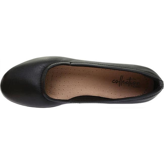 3a8485f632ee6 Shop Clarks Women's Gracelin Vail Ballet Flat Black Leather - On Sale -  Free Shipping Today - Overstock - 27346897