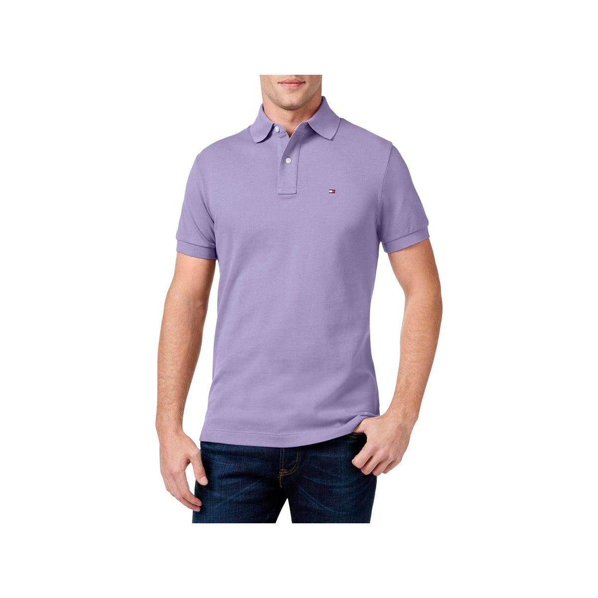 Shop Tommy Hilfiger Mens Polo Shirt Custom Fit Short Sleeve Free