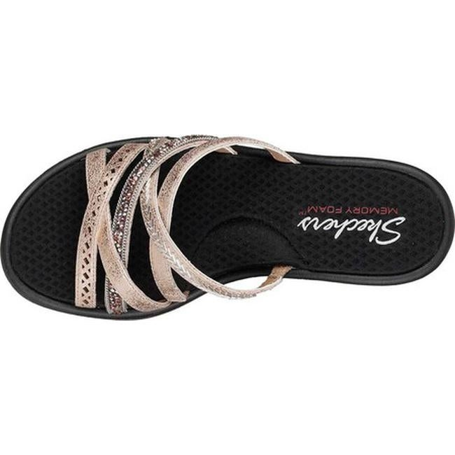 a4d17aa8a642 Shop Skechers Women s Rumblers Wave New Lassie Slide Wedge Sandal Rose Gold  - On Sale - Free Shipping On Orders Over  45 - Overstock - 19408580