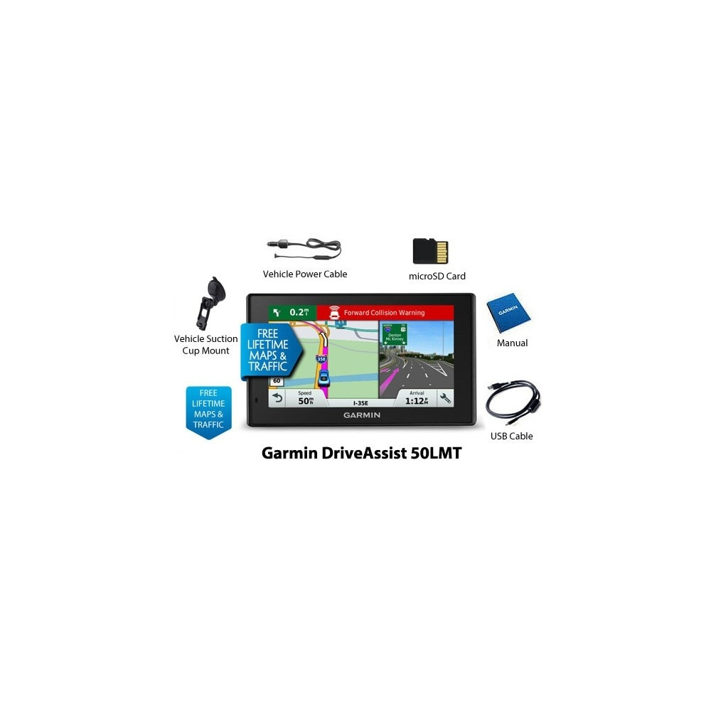 Shop Refurbished Garmin Driveassist 50lmt North America 5 Wide Drive 51 Gps Mobil Touchscreen Free Lifetime Traffic And Maps Updates On Sale Shipping Today