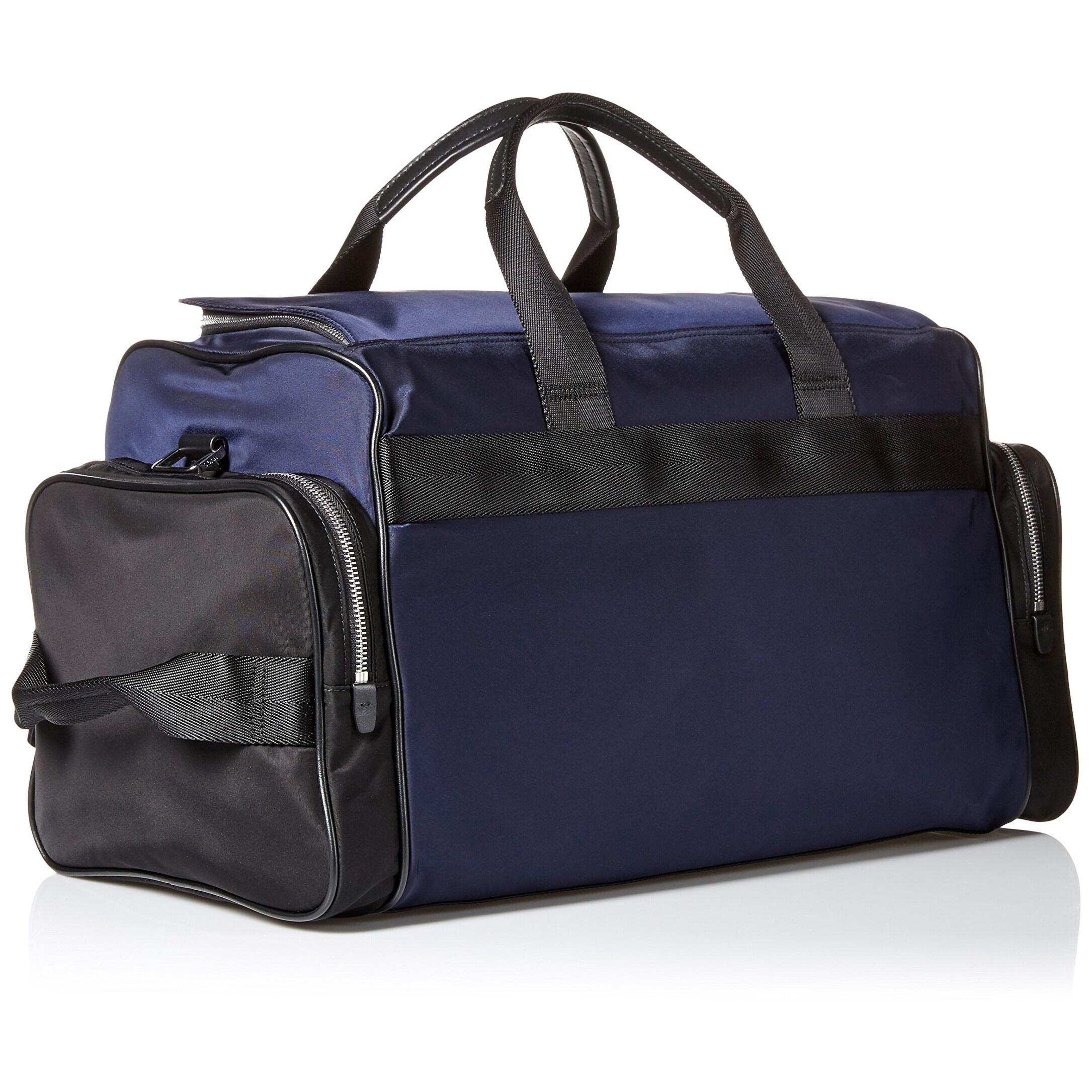 ... Black Grain Leather Traveller Bag for Men 50311778 with Top · Shop HUGO  BOSS NEW Blue Men s Duffle Bag Polyamide Nylon Double Zipper - Free  Shipping ... 90b15eabcb