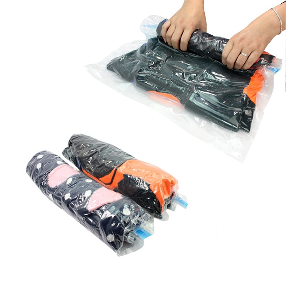 Vacum Travel Bag Shop Size L Vacuum Seal Compression Roll Up Storage Space Saver For Free Shipping On Orders Over 45 17579445