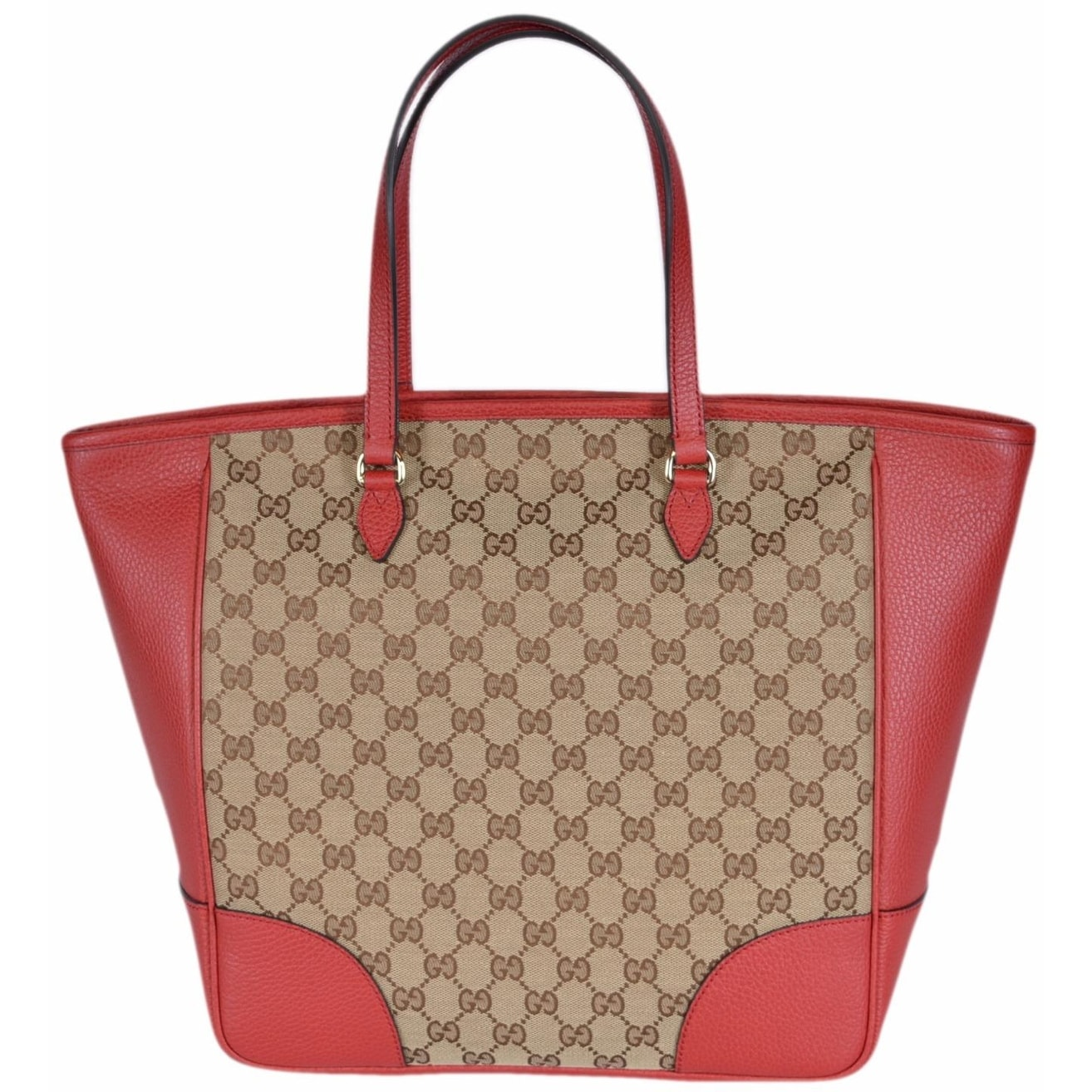 7511151f999 Gucci Women s 449242 Beige Red Large Bree GG Guccissima Purse Handbag Tote