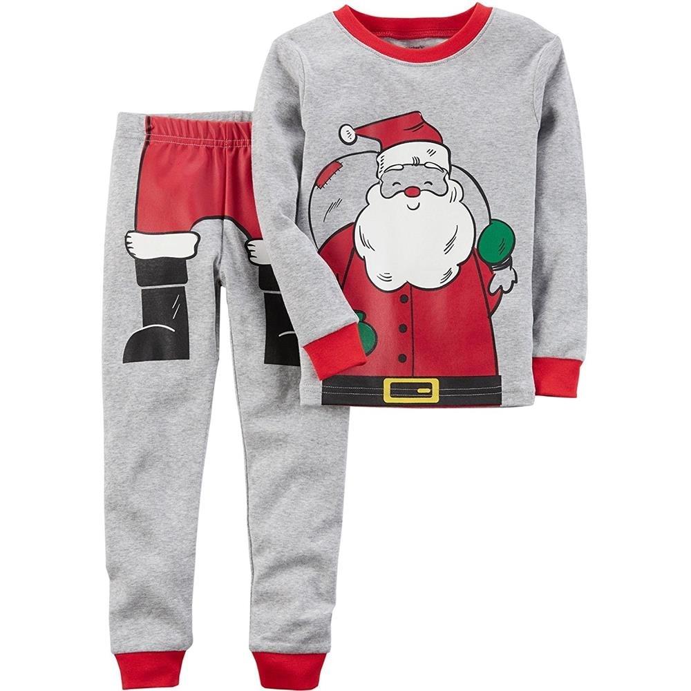 bf7036f3a621 Shop Carters Boys 2T-4T Santa Cotton Pajama Set - Grey - Free ...