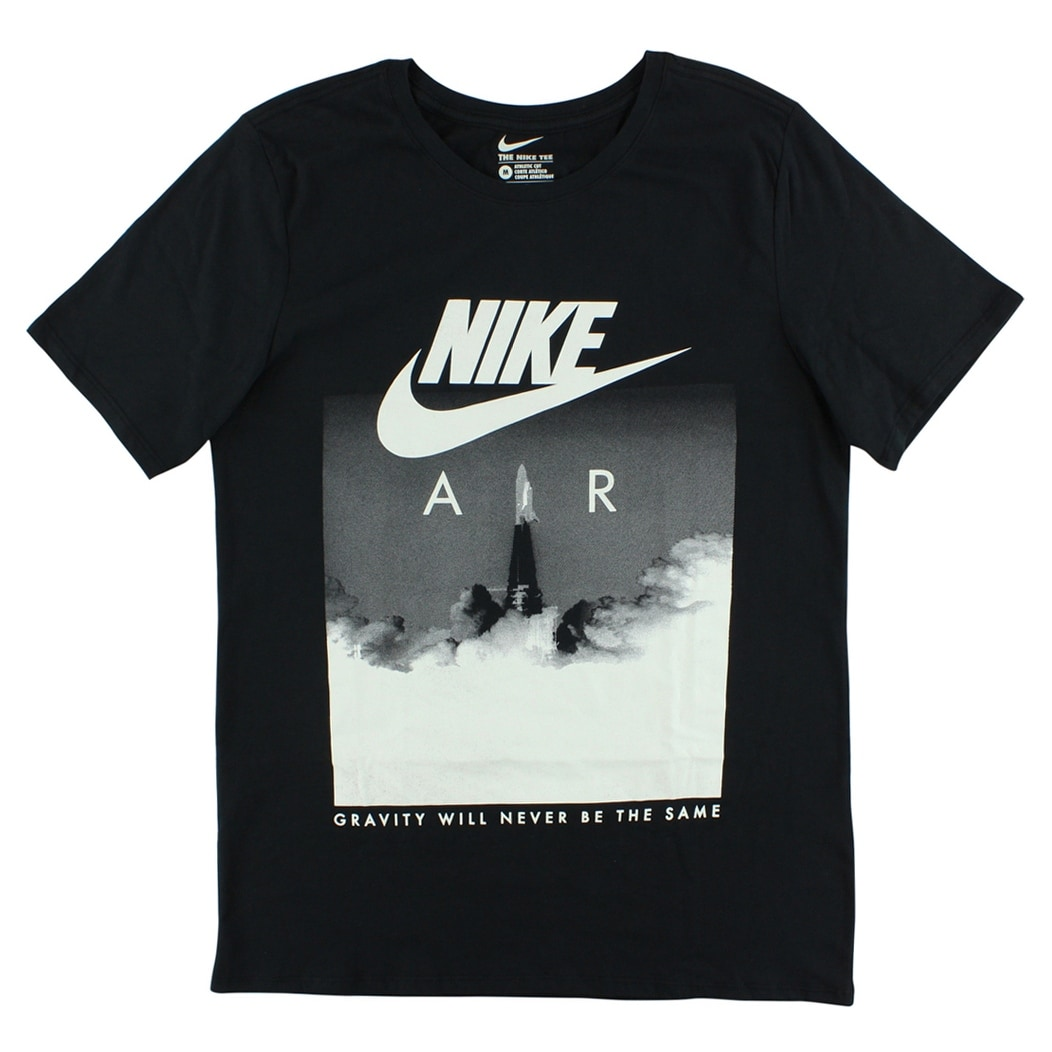 b2f42a30bf56 Shop Nike Mens T-Shirt With Rocket Print Black - BLACK WHITE - Free  Shipping On Orders Over  45 - Overstock - 22614536