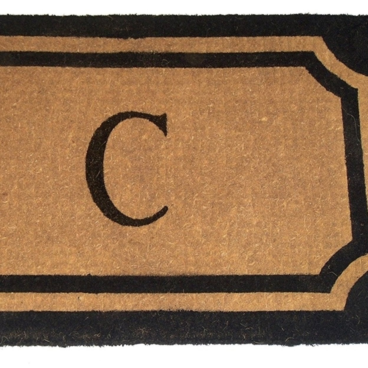 Geo Crafts G235 30 Blk 18 X In Imperial Wilkinson Doormat C Monogram Black