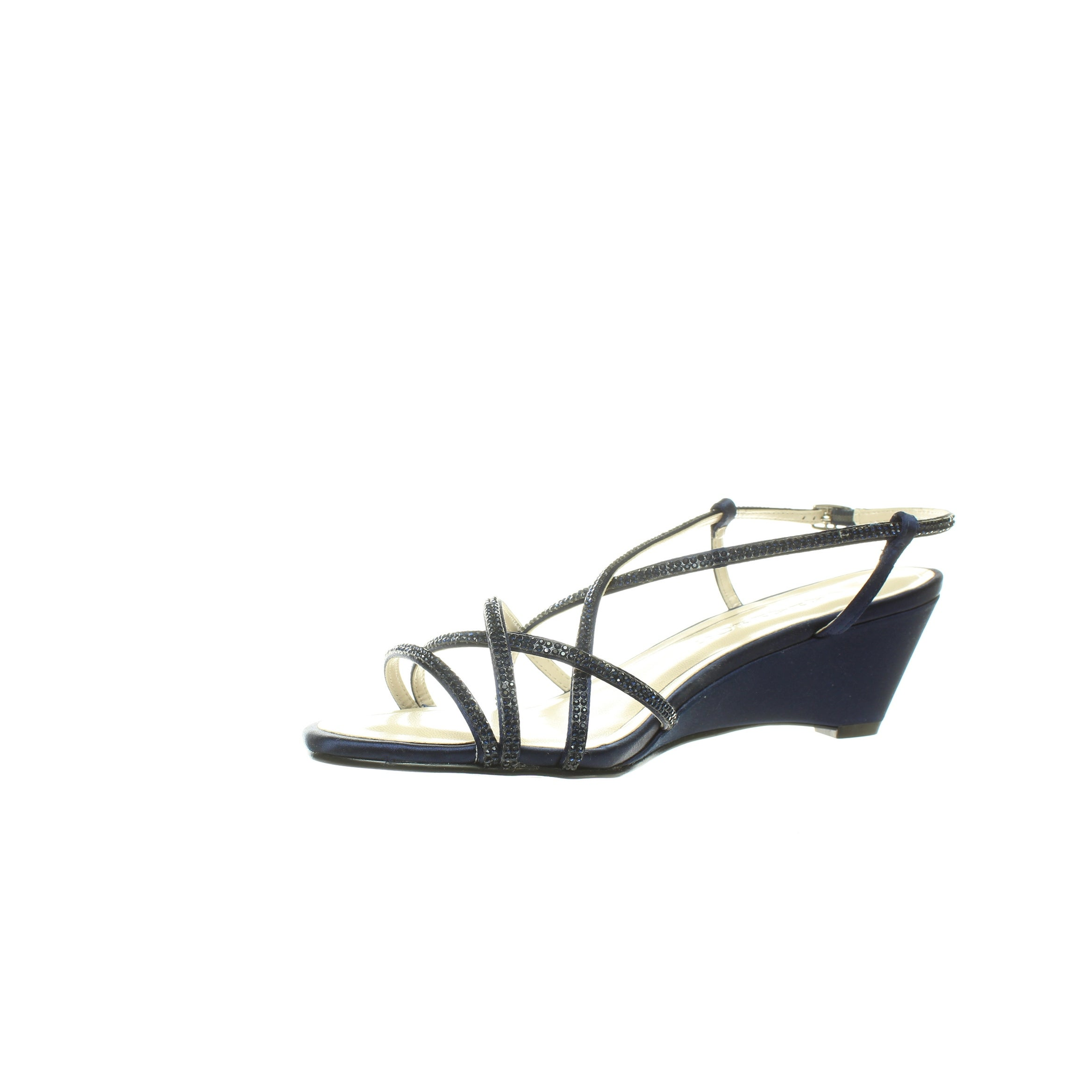 2d7a289985 Shop Caparros Womens Leighton Navy Satin Sandals Size 9 - Free Shipping On  Orders Over $45 - Overstock - 28372824