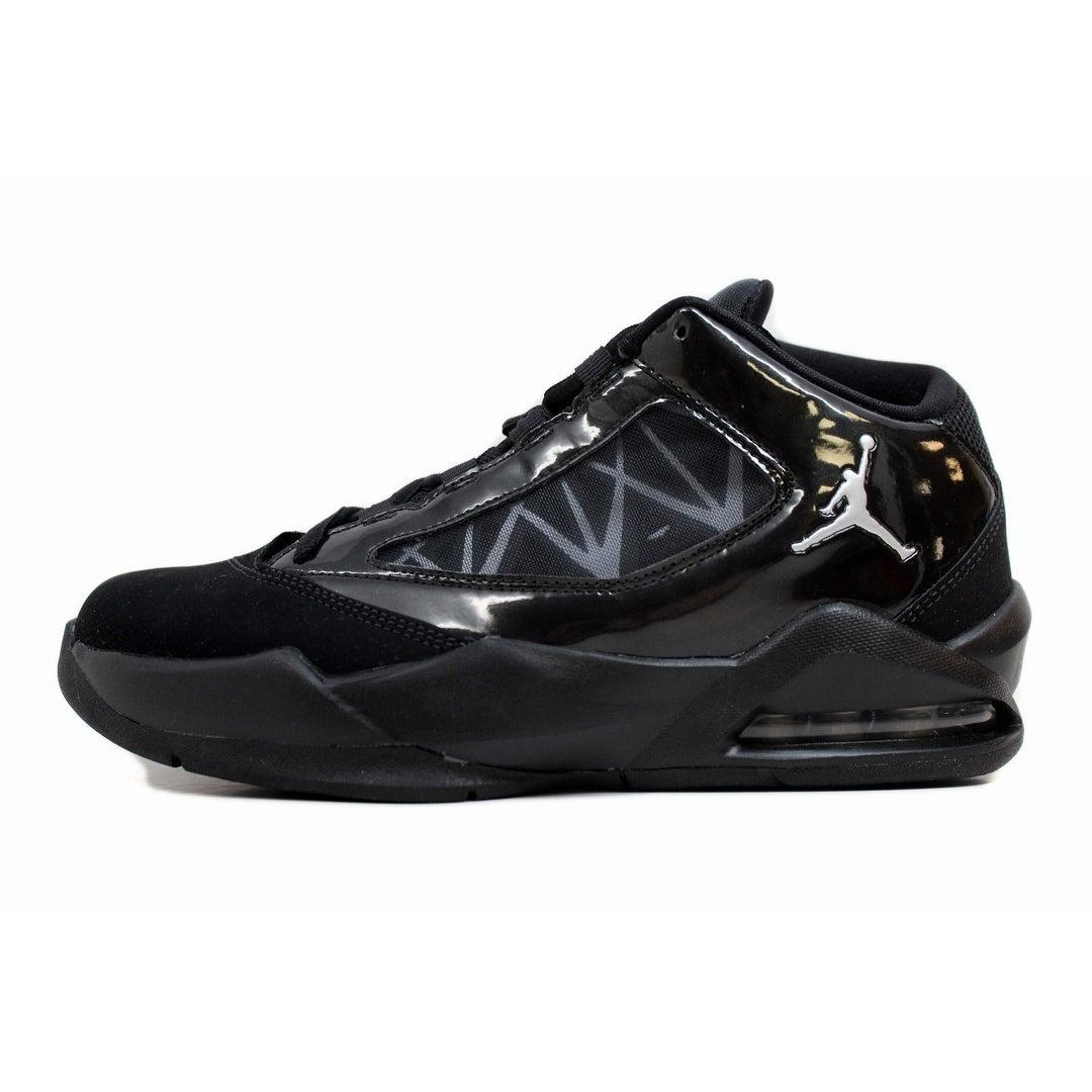 cheap for discount f23f1 71bb5 Shop Nike Grade-School Air Jordan Flight The Power Black Metallic Silver- White 487208-003 - Free Shipping Today - Overstock - 20129365