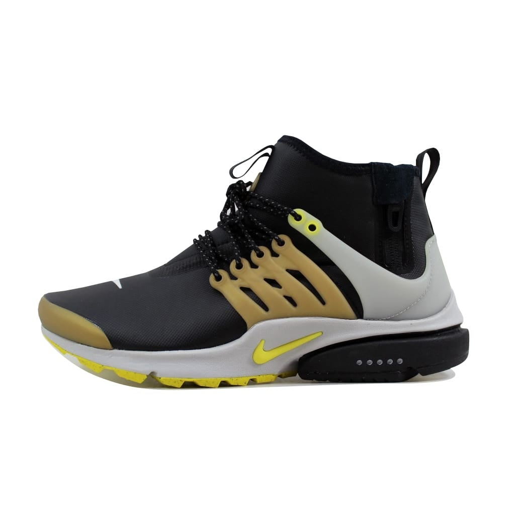 0b3ab9df6ff4 Shop Nike Men s Air Presto Mid Utility Black Yellow Streak 859524 ...