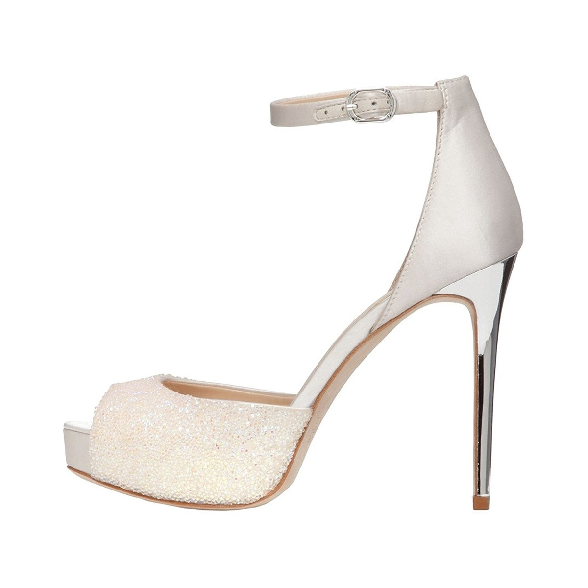 1ebad1b56a0 Shop Imagine Vince Camuto Karleigh Open Toe High Heel Pumps Iridescent Ivory  Crystal - Free Shipping Today - Overstock - 19789294