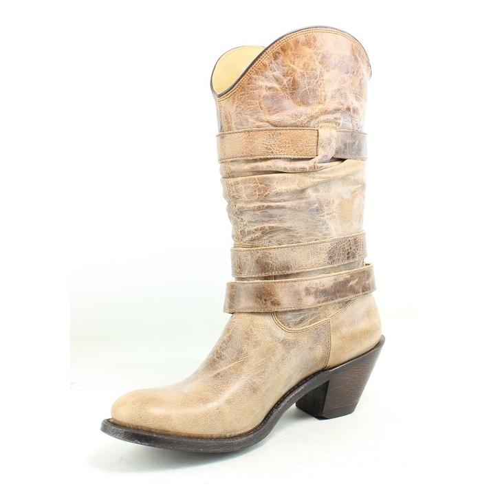 e2cdd18ef31 Johnny Ringo Womens Rochelle Tan Cowboy, Western Boots Size 6.5
