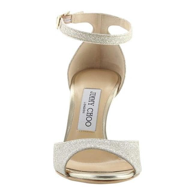 42fbd7d3dda Shop Jimmy Choo Women s Annie 85 Glitter Ankle-Strap Sandal Platinum Ice  Dusty Glitter - Free Shipping Today - Overstock - 21727466
