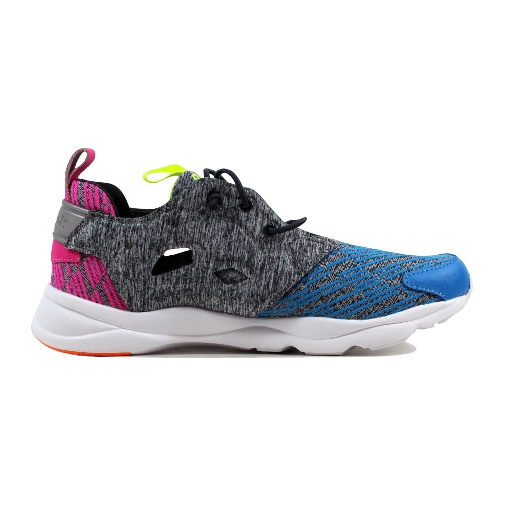 c8499bc7975bf Shop Reebok Women s Furylite Contemporary Blue Coal-Pink-Punch-Yellow AQ9244  Size 8.5 - Free Shipping Today - Overstock - 21893447