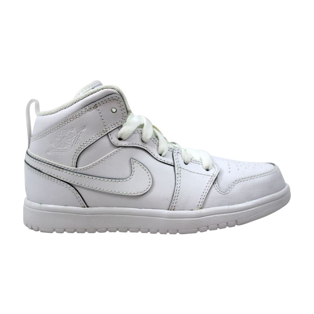 outlet store f9ce4 f0533 Nike Air Jordan 1 Mid Flex White White-Cool Grey 554726-100 Pre-School
