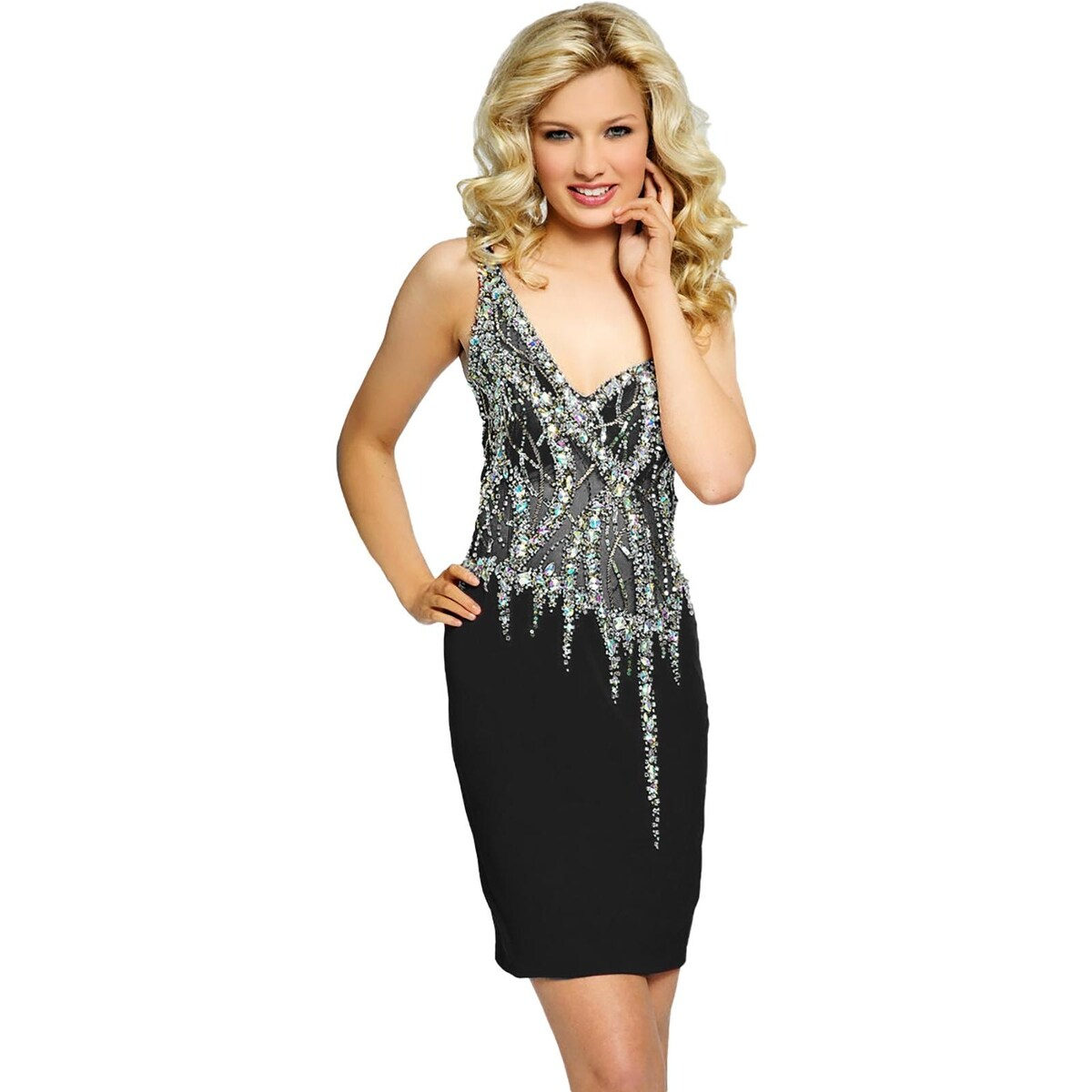 1095f897ef Shop JVN by Jovani Womens Semi-Formal Dress One-Shoulder Homecoming ...