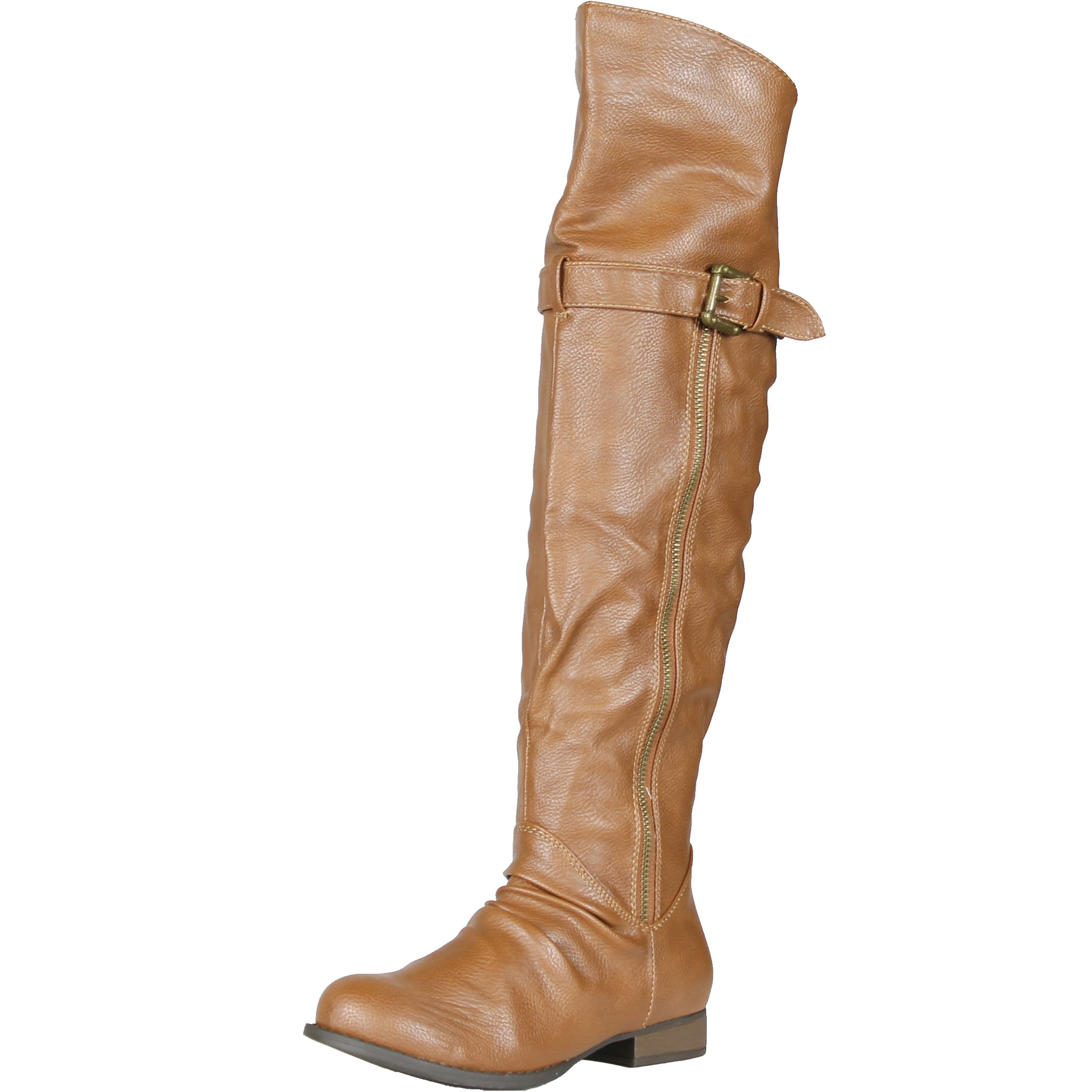 b60b42b13c41 Shop Bamboo Rascal-02 Classic Basic Casual Over The Knee High Buckle Detail  - Free Shipping Today - Overstock - 14383566