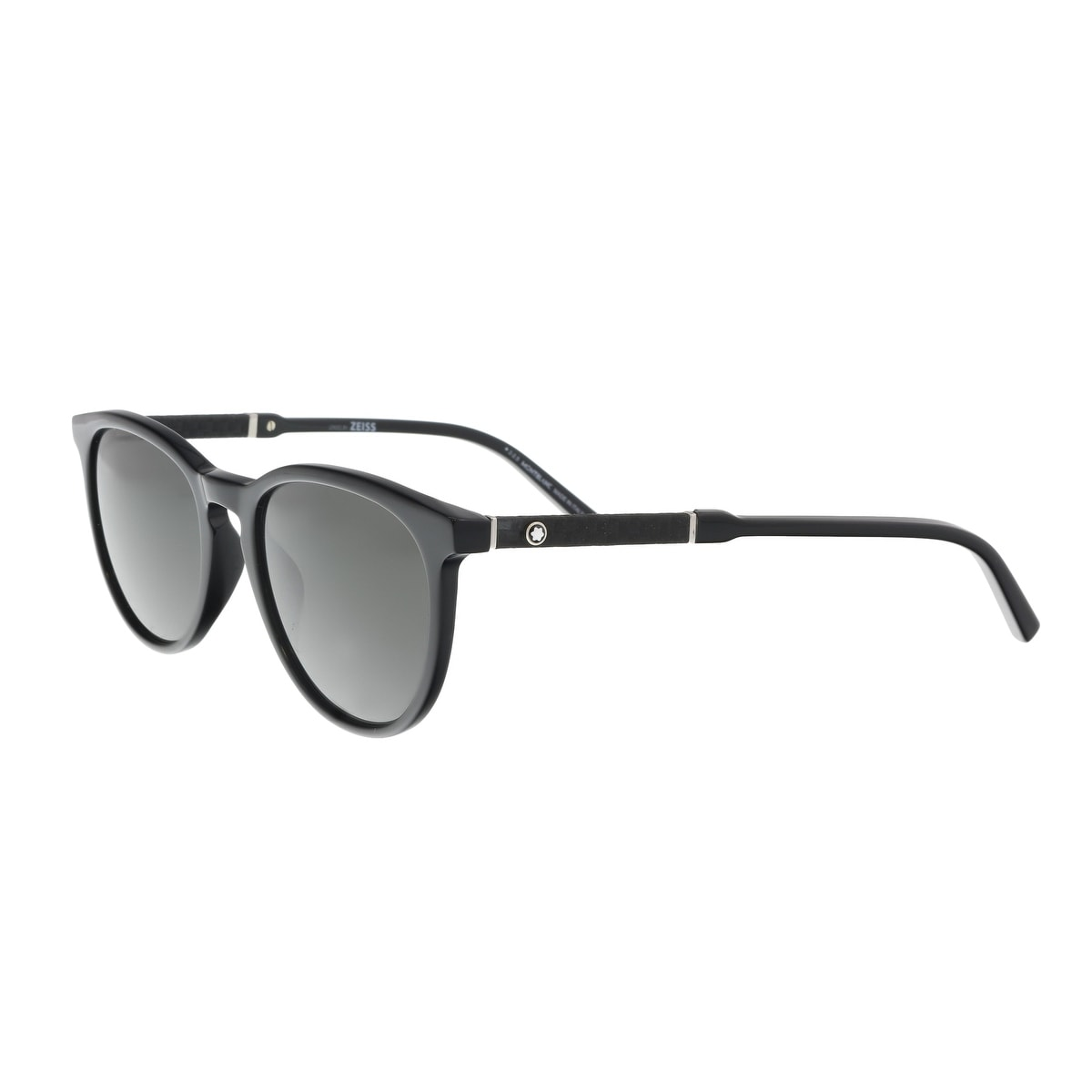 b14a719196a Shop Montblanc MB588S 01A Black Oval Sunglasses - 52-19-145 - Free ...