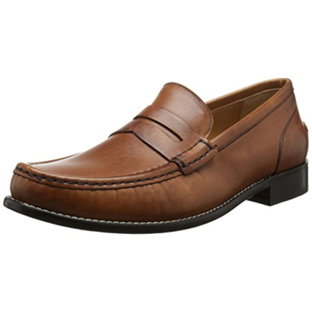 cf7e15474f8 Shop Cole Haan Mens Britton Leather Closed Toe Penny Loafer - 10.5 - Free  Shipping Today - Overstock - 21364830
