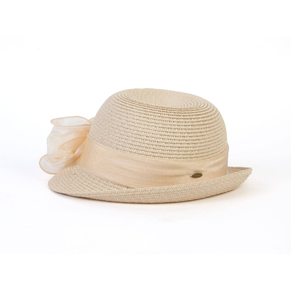 Shop Women s Natural Fedora Lace Line Brim Hat - Free Shipping On Orders  Over  45 - Overstock.com - 16948624 defd2c1b2759