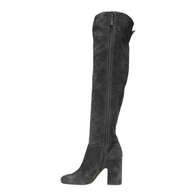 0e4af7576e3 Shop Sarto by Franco Sarto Women s Laurel Over The Knee Boot Coal Leather -  Ships To Canada - - 19490728