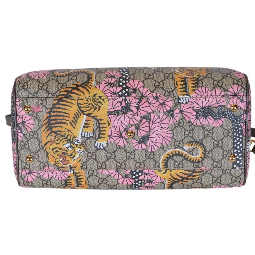 7c47b880857d Shop Gucci Women's 409527 GG Supreme Bengal Tiger Convertible Boston Bag  Purse - Multi - 14
