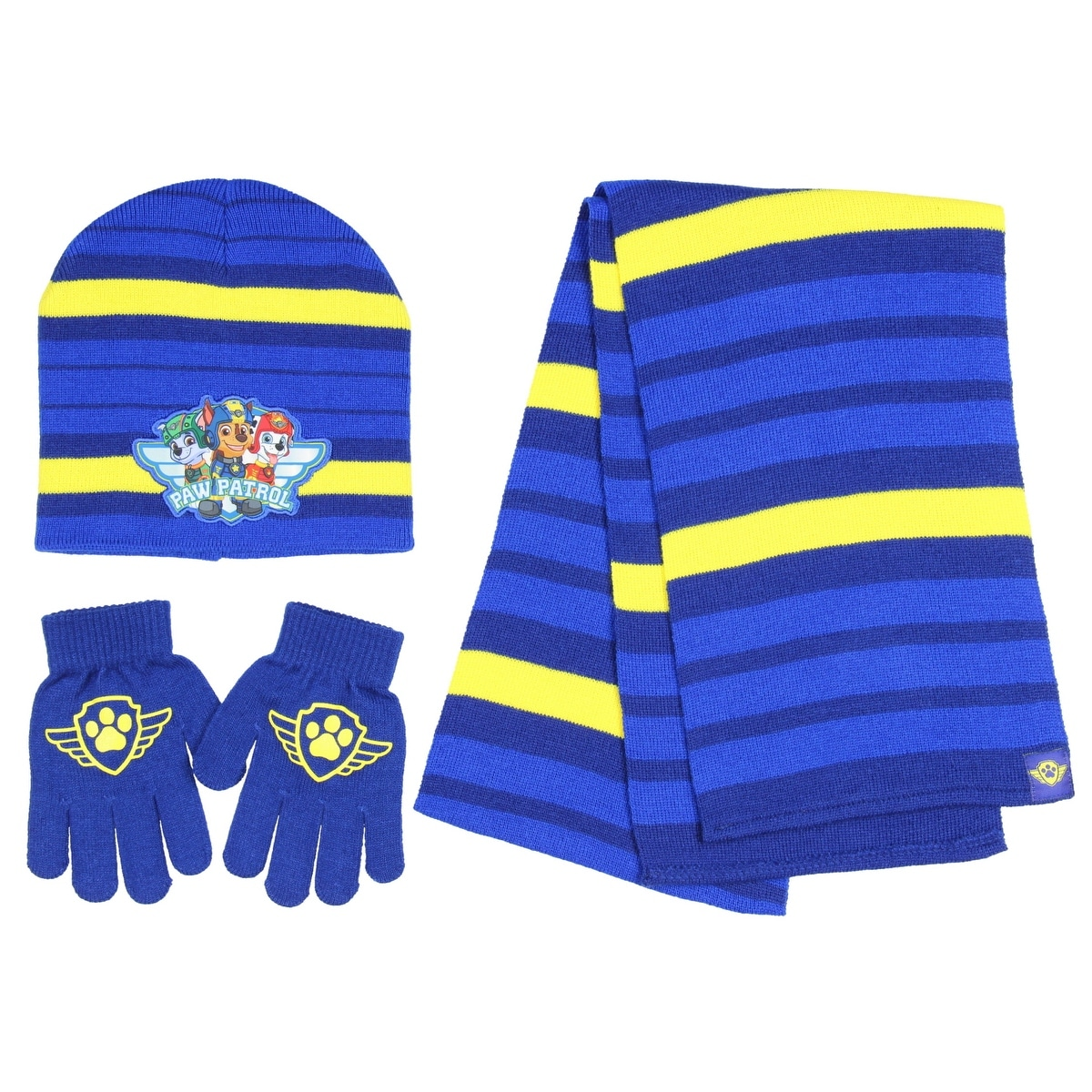 f04cf4d223fe2 Shop Nickelodeon Paw Patrol Boys Winter 3pc Set Hat Gloves and Scarf Blue  OSFM - Free Shipping On Orders Over $45 - Overstock - 19448153
