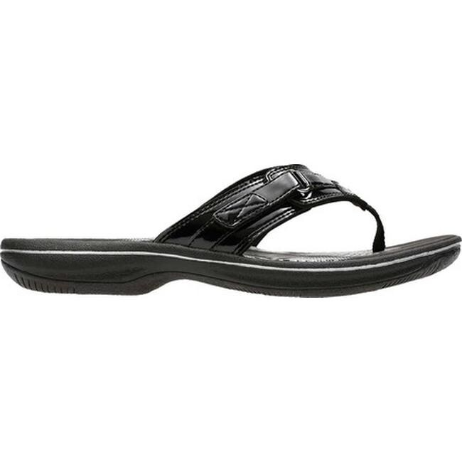 290ce1d8ccfc6 Shop Clarks Women s Breeze Sea Flip Flop Black Synthetic - On Sale - Free  Shipping Today - Overstock - 14174927