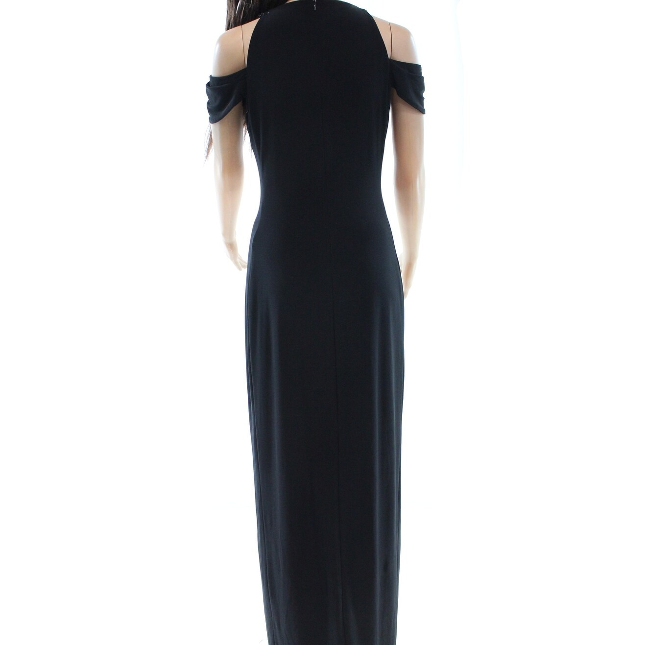 84f699ff8d Shop Lauren Ralph Lauren NEW Black Womens Size 14 Cold-Shoulder Maxi Dress  - Free Shipping On Orders Over  45 - Overstock - 18322815