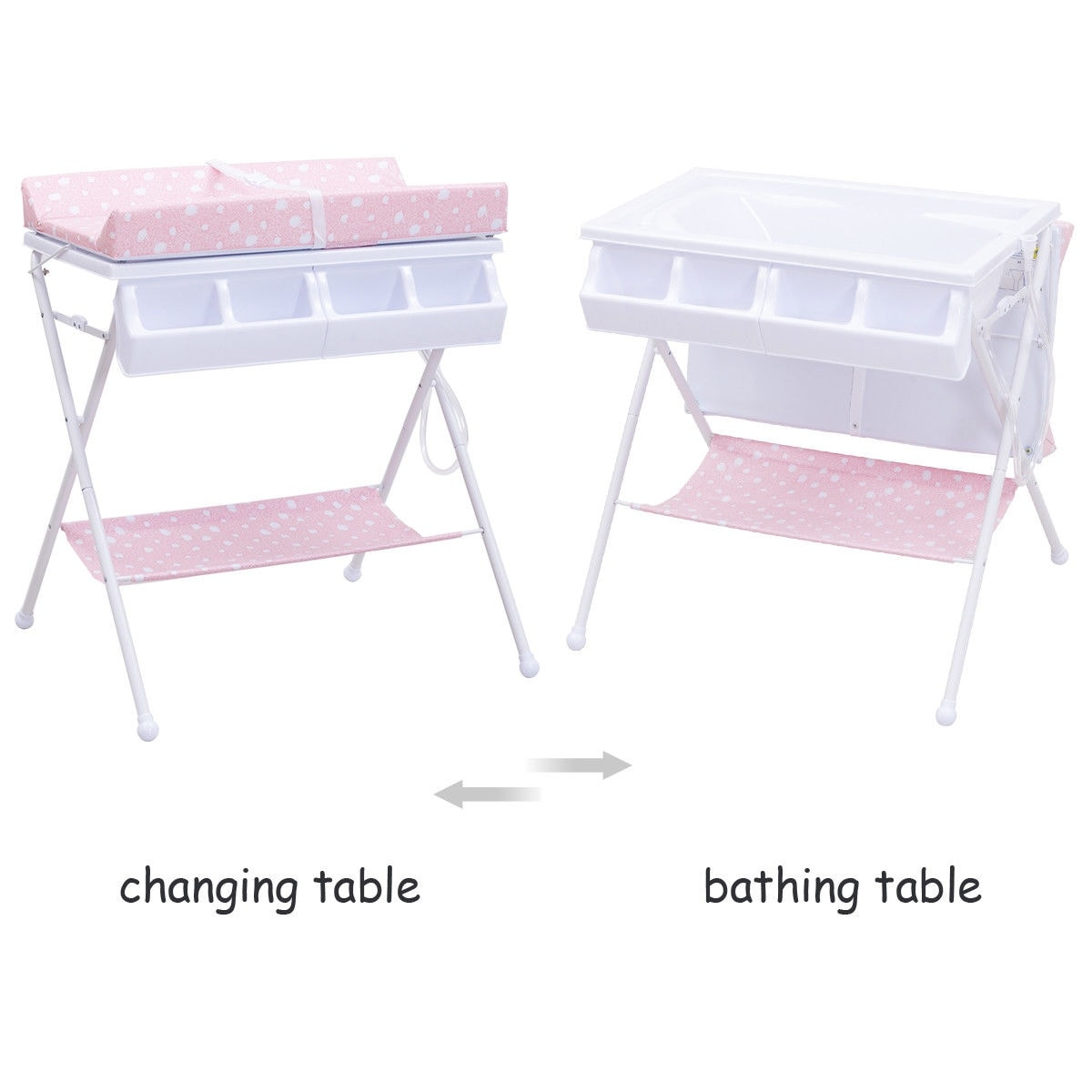 Shop Costway Infant Baby Bath Changing Table Diaper Station Nursery  Organizer Storage W Tube   Free Shipping Today   Overstock.com   18962705