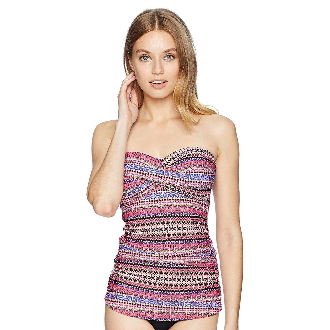 c338cf68a23 Shop Anne Cole Women's Twist Front Shirred Bandeau Tankini Swim Top - Free  Shipping On Orders Over $45 - Overstock - 26951997